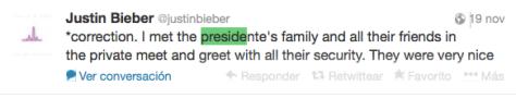 Tuit Justin Bieber